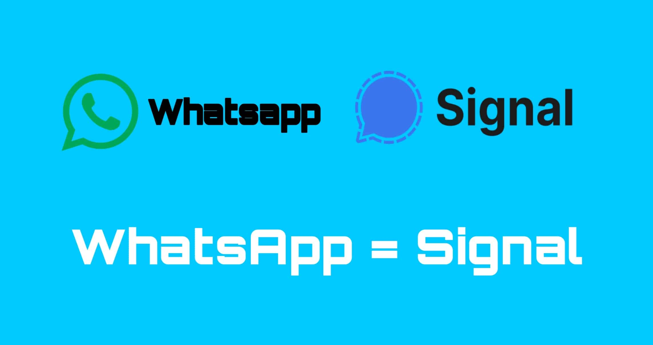 WhatsApp Messenger is equals to Signal App